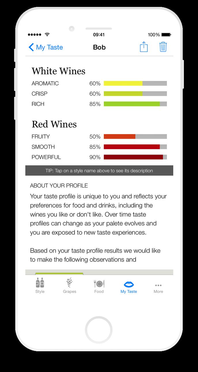 Iphone taste profile